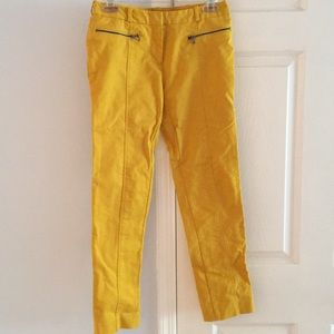Kenneth Cole Yellow ankle pants good condition